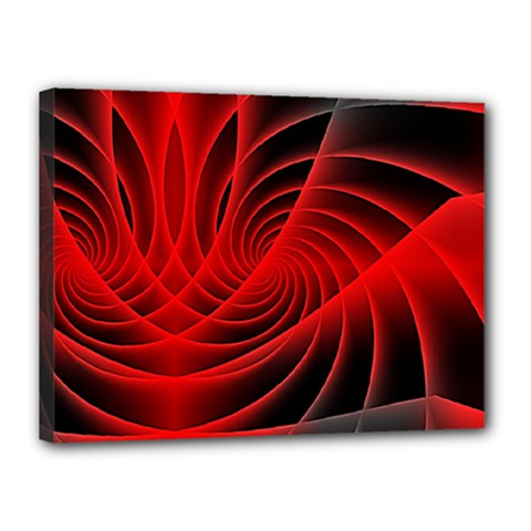 Red Abstract Art Background Digital Canvas 16  X 12
