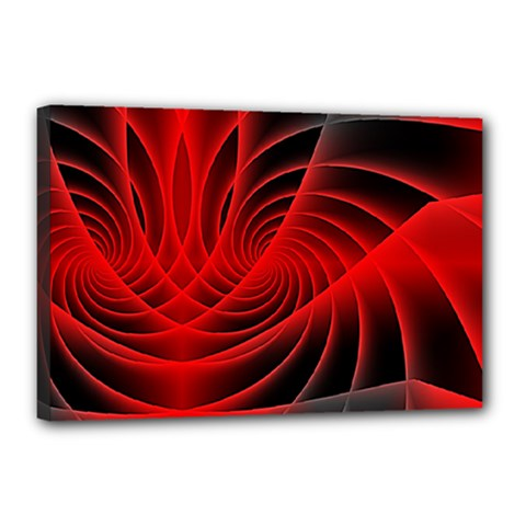 Red Abstract Art Background Digital Canvas 18  X 12
