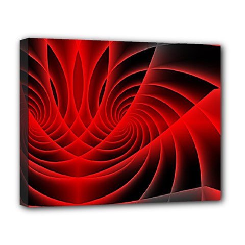 Red Abstract Art Background Digital Deluxe Canvas 20  X 16
