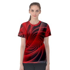 Red Abstract Art Background Digital Women s Sport Mesh Tee