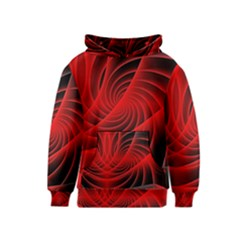 Red Abstract Art Background Digital Kids  Pullover Hoodie