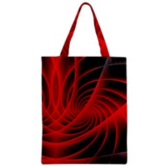 Red Abstract Art Background Digital Zipper Classic Tote Bag