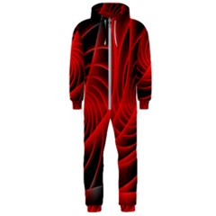 Red Abstract Art Background Digital Hooded Jumpsuit (men)
