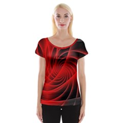 Red Abstract Art Background Digital Cap Sleeve Tops