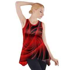 Red Abstract Art Background Digital Side Drop Tank Tunic