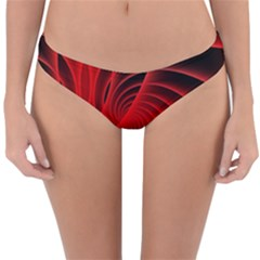 Red Abstract Art Background Digital Reversible Hipster Bikini Bottoms
