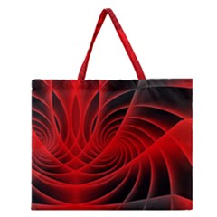 Red Abstract Art Background Digital Zipper Large Tote Bag