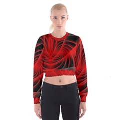 Red Abstract Art Background Digital Cropped Sweatshirt