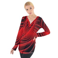 Red Abstract Art Background Digital Tie Up Tee