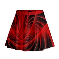 Red Abstract Art Background Digital Mini Flare Skirt