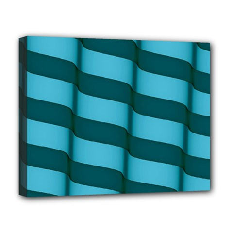 Curtain Stripped Blue Creative Deluxe Canvas 20  X 16