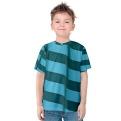 Curtain Stripped Blue Creative Kids  Cotton Tee