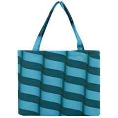 Curtain Stripped Blue Creative Mini Tote Bag