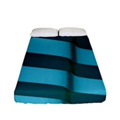 Curtain Stripped Blue Creative Fitted Sheet (full/ Double Size)