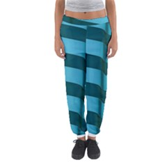 Curtain Stripped Blue Creative Women s Jogger Sweatpants