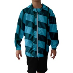 Curtain Stripped Blue Creative Hooded Wind Breaker (kids)