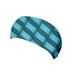 Curtain Stripped Blue Creative Yoga Headband
