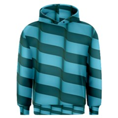 Curtain Stripped Blue Creative Men s Overhead Hoodie