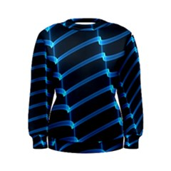 Background Neon Light Glow Blue Women s Sweatshirt