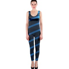Background Neon Light Glow Blue One Piece Catsuit