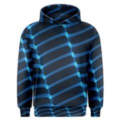 Background Neon Light Glow Blue Men s Overhead Hoodie