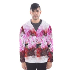 Flowers Roses Wedding Bouquet Art Hooded Wind Breaker (men)