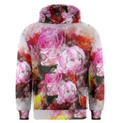 Flowers Roses Wedding Bouquet Art Men s Pullover Hoodie