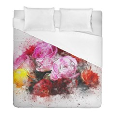 Flowers Roses Wedding Bouquet Art Duvet Cover (full/ Double Size)