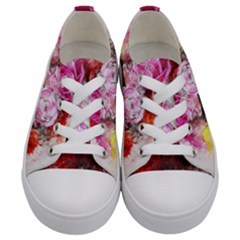 Flowers Roses Wedding Bouquet Art Kids  Low Top Canvas Sneakers