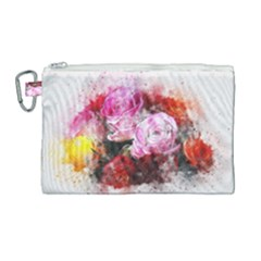 Flowers Roses Wedding Bouquet Art Canvas Cosmetic Bag (large)