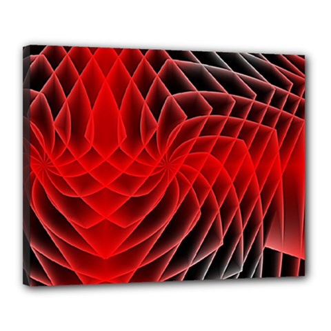 Abstract Red Art Background Digital Canvas 20  X 16