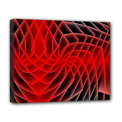 Abstract Red Art Background Digital Deluxe Canvas 20  X 16