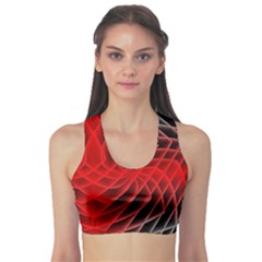 Abstract Red Art Background Digital Sports Bra