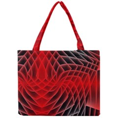 Abstract Red Art Background Digital Mini Tote Bag