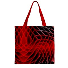 Abstract Red Art Background Digital Zipper Grocery Tote Bag