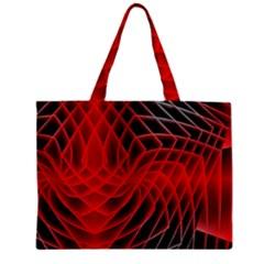Abstract Red Art Background Digital Zipper Mini Tote Bag