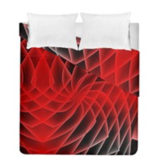 Abstract Red Art Background Digital Duvet Cover Double Side (full/ Double Size)