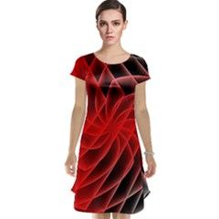 Abstract Red Art Background Digital Cap Sleeve Nightdress