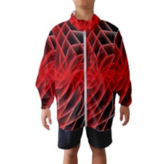 Abstract Red Art Background Digital Wind Breaker (kids)
