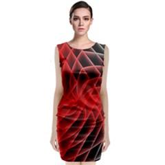 Abstract Red Art Background Digital Classic Sleeveless Midi Dress