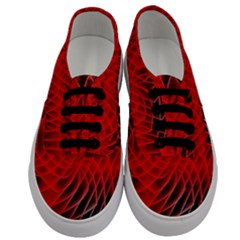 Abstract Red Art Background Digital Men s Classic Low Top Sneakers