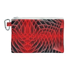Abstract Red Art Background Digital Canvas Cosmetic Bag (large)