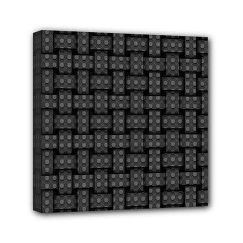 Background Weaving Black Metal Canvas Travel Bag