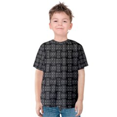 Background Weaving Black Metal Kids  Cotton Tee