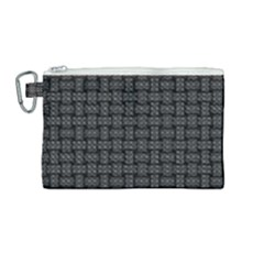 Background Weaving Black Metal Canvas Cosmetic Bag (medium)