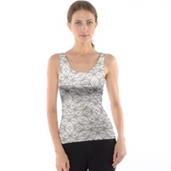Background Wall Stone Carved White Tank Top