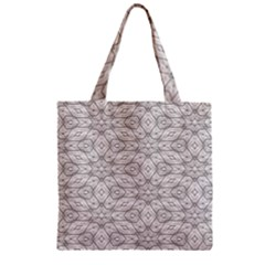 Background Wall Stone Carved White Zipper Grocery Tote Bag