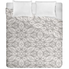 Background Wall Stone Carved White Duvet Cover Double Side (california King Size) by Nexatart