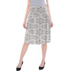 Background Wall Stone Carved White Midi Beach Skirt