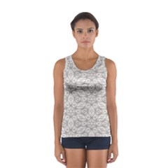 Background Wall Stone Carved White Sport Tank Top